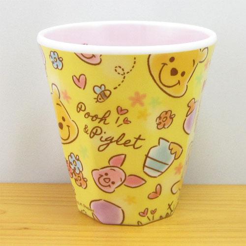 ディズニー Winnie the Pooh くまのプーさん FUZZY POOH Wプリントメラミンカップ ファジープー/チラシ