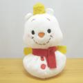 まんまる小さなマスコットがキュートな雪だるまになって登場です♪ディズニー Potepote ぽてぽてお手玉マスコット プー(雪だるま)