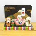 DECOLE(デコレ) concombre(コンコンブル) 五月飾り 桃太郎猫どんぶらこセット(みたらしわんこ・おむすびおさる・富士山ついたて・親王台)