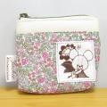 バッグの中で迷子になりがちな小さな物専用のポーチに!くまのがっこう リバティ ミニポーチ(ピンク) 【くまのがっこう グッズ】