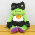ピクルスと楽しいハロウィン♪カエルのピクルス(かえるのピクルス) HALLOWEEN ピクルス ハロウィン ビーンドール 黒猫マスク
