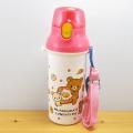 ワンタッチで簡単開け閉め!飲みやすいダイレクト飲み口の水筒♪リラックマ ダイレクト水筒(リラックマ・おかずパン) 食洗機対応