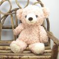 >童心 日本製オリジナル くまのぬいぐるみ フカフカシリーズ クマのフカフカ Sサイズ(ローズ)