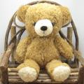童心 日本製オリジナル くまのぬいぐるみ フカフカシリーズ クマのフカフカ Mサイズ(ブラウン)