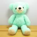 童心 日本製オリジナル くまのぬいぐるみ フカフカシリーズ クマのフカフカ Mサイズ(ミント)