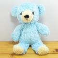 >童心 日本製オリジナル くまのぬいぐるみ フカフカシリーズ クマのフカフカ Sサイズ(アクア)