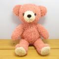 フカフカくたくた・・・♪童心 日本製オリジナル くまのぬいぐるみ フカフカシリーズ クマのフカフカ Mサイズ(コーラル SAKURA)