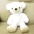 童心 日本製オリジナル くまのぬいぐるみ フカフカシリーズ クマのフカフカ Mサイズ チンチラ・ホワイト