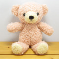 >童心 日本製オリジナル くまのぬいぐるみ フカフカシリーズ クマのフカフカNEW Sサイズ ローズ