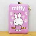 毎日の通勤通学はお気に入りのかわいいパスケース♪ディック・ブルーナ miffy(ミッフィー) リール付&パスケース ミッフィー お花