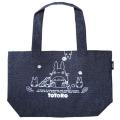 お弁当専用バッグはもちろん、普段のお出掛けにも使えるかわいいバッグ♪となりのトトロ デニムトート型ランチバッグ(中トトロ)