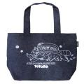 お弁当専用バッグはもちろん、普段のお出掛けにも使えるかわいいバッグ♪となりのトトロ デニムトート型ランチバッグ(ネコバス)