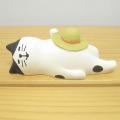 ちょこんと飾ってかわいい!置いてるだけで一緒に旅気分に♪DECOLE(デコレ) concombre(コンコンブル) 旅猫 in HAWAII ハチワレ お昼寝