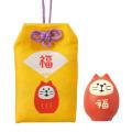 プレゼントにも♪DECOLE(デコレ) concombre(コンコンブル) FUKU福MONO(フクモノ)シリーズ おまもりマスコット 福猫守