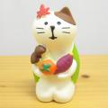 秋の散策に疲れたらちょっと休憩しませんか♪DECOLE(デコレ) concombre(コンコンブル) 峠のだるま茶屋シリーズ 実りの秋猫