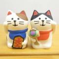 集めて飾りたくなる松足神社のまったり縁起小物です♪DECOLE(デコレ) concombre(コンコンブル) 開運 招福 松足神社 ペア招き猫