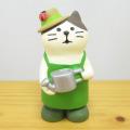 春の訪れをみんなでお祝いしましょ♪DECOLE(デコレ) concombre(コンコンブル) まったりマスコット イースターの庭シリーズ 庭師猫