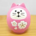 桜の季節にピッタリのマスコット♪DECOLE(デコレ) concombre(コンコンブル) まったりマスコット 桜concombre 桜猫だるま