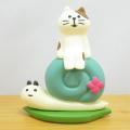 雨の季節もかわいく飾って楽しもう♪DECOLE(デコレ) concombre(コンコンブル) コンコンブルの梅雨飾り かたつむりとお散歩猫
