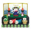 端午の節句に!ミニ段飾り♪DECOLE(デコレ) concombre(コンコンブル) 五月飾り 端午の節句 段飾り 猫将軍 出陣飾りセット