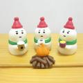 今年は雪の中でクリスマス♪DECOLE(デコレ) concombre(コンコンブル) Holly Jolly CHRISTMAS 雪だるま3人セット(たき火つき)